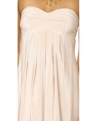Amanda Uprichard | White Tie Back Silk Maxi Dress | Lyst