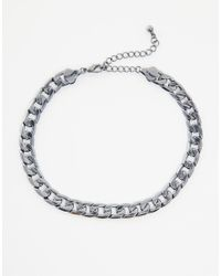 ASOS - Metallic Chain Choker Necklace - Lyst