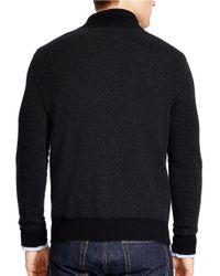Polo Ralph Lauren   Black Herringbone Merino Half-zip Sweater for Men   Lyst