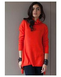 51 Inc - Red Seamless Droptail Turtleneck - Lyst
