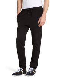 BOSS Green | Black Regular-fit Jogging Trousers 'hakibo' In Cotton for Men | Lyst