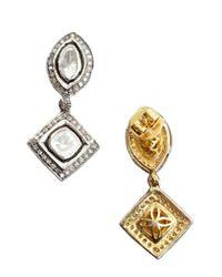 Amrapali | Metallic Diamond Drop Earrings | Lyst