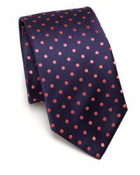 Eton of Sweden | Blue Medallion Silk Tie for Men | Lyst