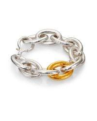 Gurhan - Metallic Galahad 24k Yellow Gold & Sterling Silver Large Oval Link Bracelet - Lyst