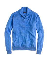 J.Crew | Blue Rugged Cotton Shawl-collar Sweater for Men | Lyst
