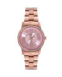 Ted Baker - Pink Crystal Embellished Bezel Watch, 34mm - Lyst