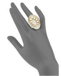 John Hardy - Metallic Dot Buffalo Horn, 18k Yellow Gold & Sterling Silver Marquis Ring - Lyst