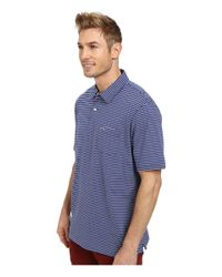 Vineyard Vines - Blue Stripe Jersey Polo for Men - Lyst