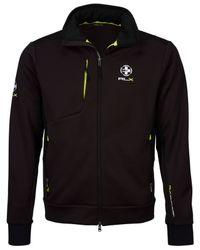 "Polo Ralph Lauren - Black Polo Sport ""rlx"" Performance Jersey Track Jacket for Men - Lyst"