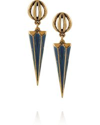 Lulu Frost - Blue Orbit Gold-tone Earrings - Lyst