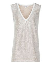 Reiss | Ona Metallic Fluid Metallic Vest | Lyst