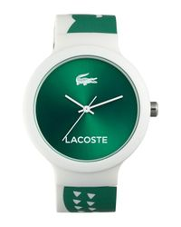 Lacoste - Green 'goa' Patterned Silicone Strap Watch - Lyst