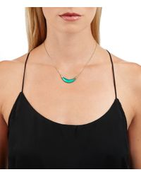 Alexis Bittar | 'lucite' Crescent Pendant Necklace - Leaf Green | Lyst