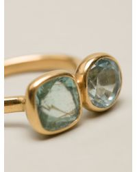 Marie-hélène De Taillac - Metallic Faceted Double Stone Ring - Lyst