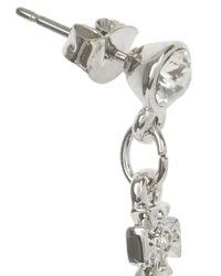 Vivienne Westwood - Metallic Silver Tone Swarovski Orb Drop Earrings - Lyst