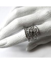 Ayaka Nishi   Metallic Silver Branch Spider Web Ring   Lyst