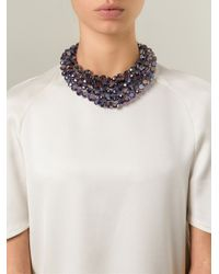 Night Market | Purple 'crystal Rain' Bib Necklace | Lyst