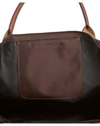 Longchamp - Brown Chocolate Nylon Le Pliage Medium Folding Tote - Lyst