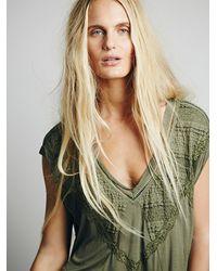 Free People - Green Womens Fp X Abigail Tee - Lyst