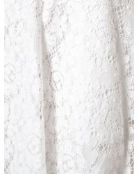 MSGM - White Lace Skirt - Lyst
