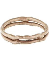 Ruth Tomlinson - Pink White Gold Double Band Wedding Ring - Lyst