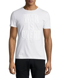 CoSTUME NATIONAL - White War Is Over! Short-sleeve T-shirt for Men - Lyst