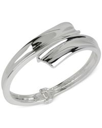 Robert Lee Morris | Metallic Silver-tone Hinged Bangle Bracelet | Lyst