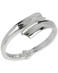 Robert Lee Morris - Metallic Silver-tone Hinged Bangle Bracelet - Lyst