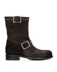 Jimmy Choo - Brown Dash Metallic Leather Boots - Lyst