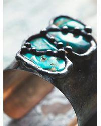 Free People | Blue Mikal Winn Womens Turquoise Teardrop Cuff | Lyst