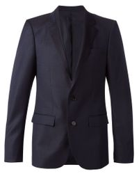 Wooyoungmi - Blue Jacquard Blazer for Men - Lyst