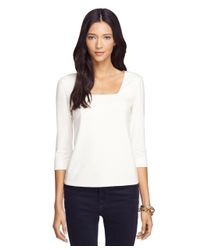 Brooks Brothers | White Cotton Stretch Tee | Lyst