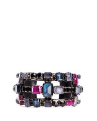 Erickson Beamon | Purple 'velvet Underground' Jewel Crystal Caged Cuff | Lyst