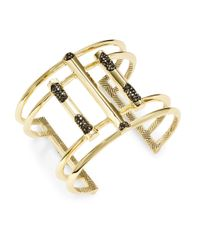House of Harlow 1960 | Metallic Bar And Pave Cuff Bracelet | Lyst