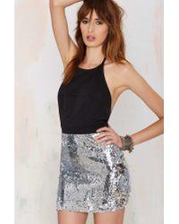 Nasty Gal - Metallic Night Pulse Sequin Dress - Lyst