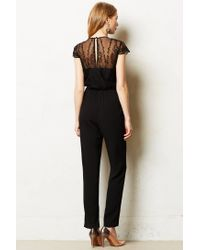 Dolce Vita | Black Georgette Embroidered Jumpsuit | Lyst