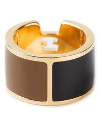 Fendi Metallic Logo Ring