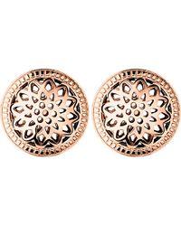 Links of London - Multicolor Timeless 18ct Rose-gold Vermeil Stud Earrings - Lyst