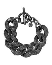 Michael Kors - Black Pave Curbchain Bracelet - Lyst