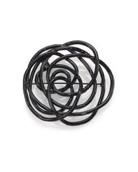 Oscar de la Renta | Black Wire Rose Brooch | Lyst
