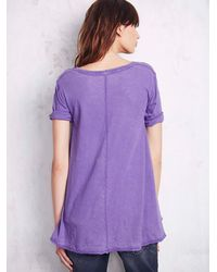 Free People | Purple Womens Melrose Swing Tee | Lyst