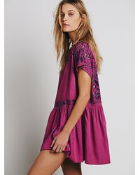 Free People - Purple Womens Ayu Dress - Lyst