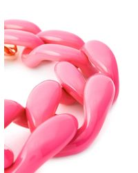 Moschino - Pink Chunky Chain Necklace - Lyst