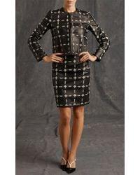 Moschino | Black Leather Chalk Skirt | Lyst