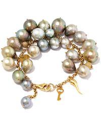 Kojis | Multicolor Multicolour Tahitian Pearl Charm Bracelet | Lyst