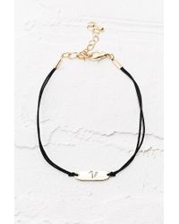 Urban Outfitters | Black Initial Friendship Bracelet | Lyst