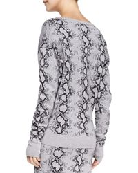 Pam & Gela - Black Snake-print Knit Sweater - Lyst