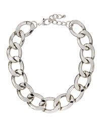 Lydell NYC - Metallic Oversized Curb-link Necklace - Lyst