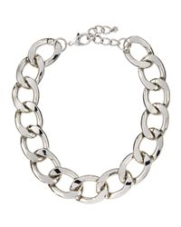Lydell NYC | Metallic Oversized Curb-link Necklace | Lyst