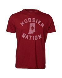 47 Brand - Red Mens Shortsleeve Indiana Hoosiers Tshirt for Men - Lyst